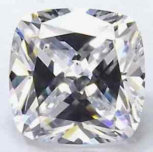 Details about Synthetic Lab Created White Sapphire Corundum Cushion Loose  stone (5x5-15x15mm)