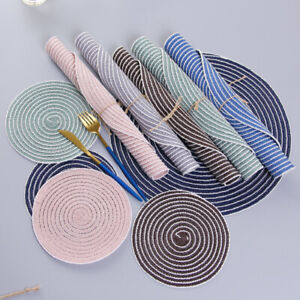 Set-of-6-Cotton-Braided-Ramie-Round-Placemats-Heat-Resistant-Anti-Skid-Table-Mat