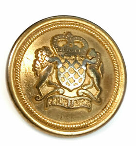 "Ralph Lauren metal plastic gold clr Horse Replacement Main button .80/"""