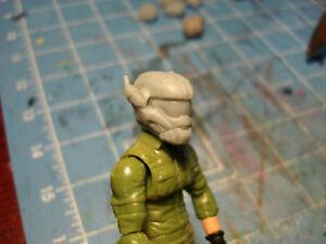"""MH127 Custom Cast Male head for use with 3.75/"""" GI Joe Star Wars Marvel figures"""