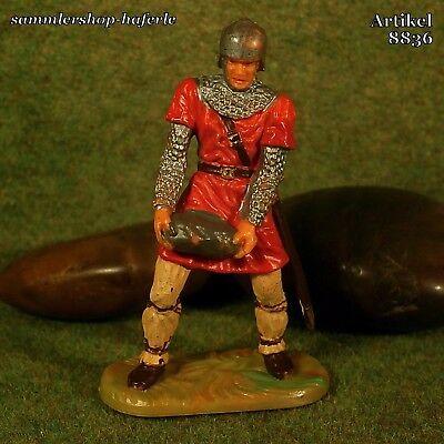 Original Hausser Elastolin 7cm Normanne mit Schwert naturgetreu&handbemalt 8833