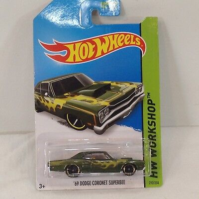 Hot Wheels 1:64 Diecast Model Hot Wheels Work 69 Dodge Coronet Superbee #212
