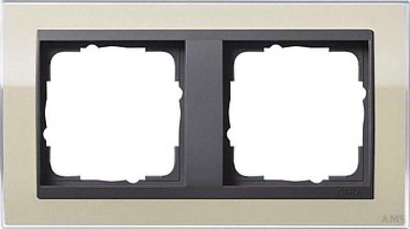 Gira 0212778 Cadre de Recouvrement 2 Fois pour Anthracite Anthracite Anthracite Événement Transparent 1a19d3