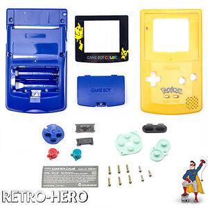 Gameboy-Color-Gehaeuse-Display-Game-Boy-Batterie-Deckel-Tasten-Case-Shell-Pokemon