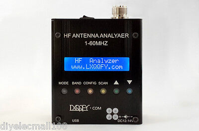 2017 MR300 Digital Shortwave Antenna Analyzer Meter Tester 1-60M For Ham Radio