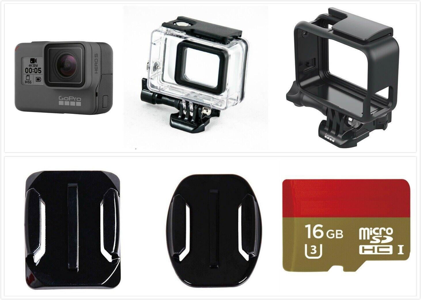 New GoPro HERO 5 Black Waterproof Action 4K Ultra HD Camera Frame 16GB card Kit 16gb action black camera frame gopro hero new ultra waterproof
