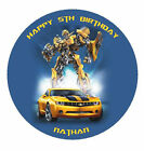 Transformers Custom Edible Wafer Paper Birthday Cake Decoration Topper Image