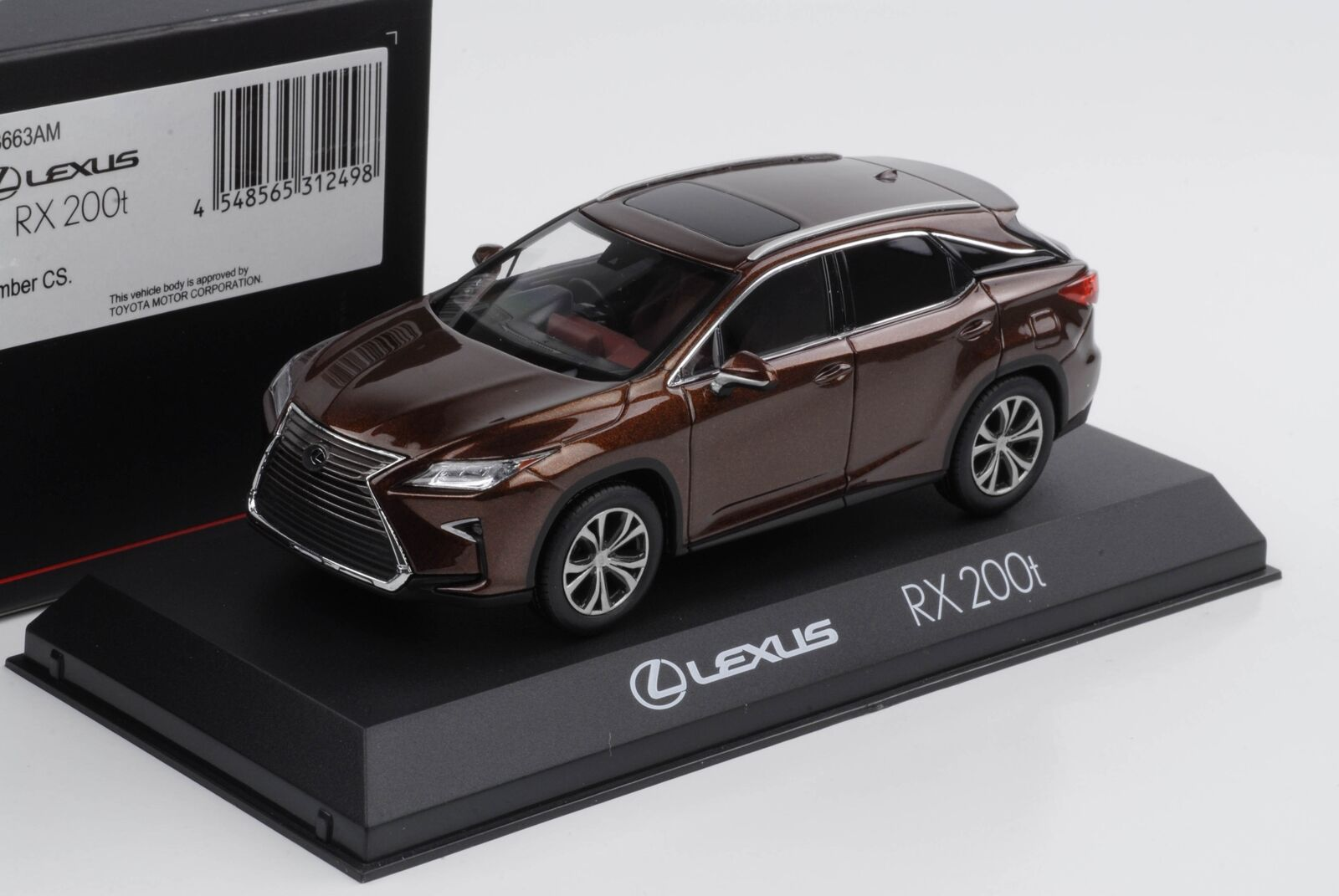 Lexus Rx 200t F Sport Amber Crystal Toyota 1 43 Kyosho Diecast