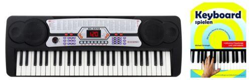Digitales 54-Tasten Keyboard Set E-Piano Schüler Musikschule Noten Anfänger Demo