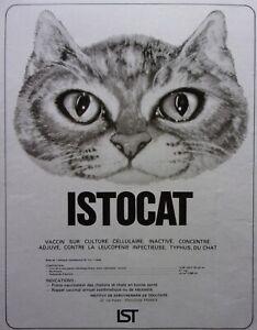 page-de-publicite-VACCIN-ISTOCAT-avec-CHAT-en-1974-ref-70851