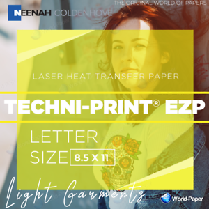 "New Laser Heat Transfer Paper for Light TECHNIPRINT EZP 8.5""x11/"" 25 Sheets"