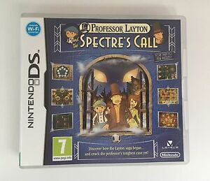 Nintendo-DS-PROFESSOR-LAYTON-AND-THE-SPECTRE-039-S-CALL-with-Box-Instructions