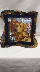 Golden-Lab-Dog-16-034-Throw-Pillow