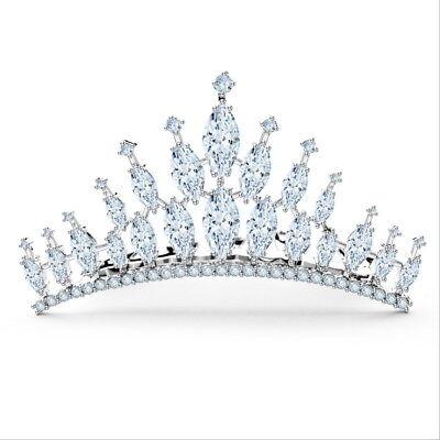 Full AAAAA CZ Cubic Zirconia Kids Flower Girl Adult Twinkling Mini Tiara Crown
