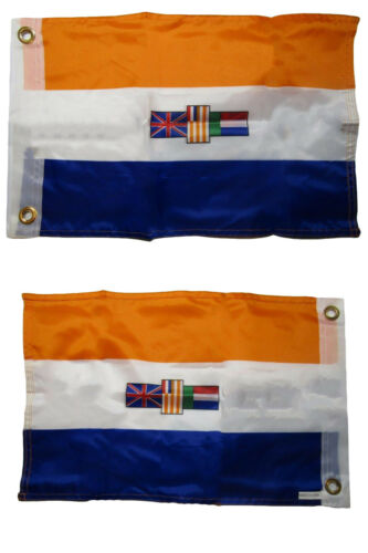 12x18 Old South Africa 2 Faced 2-ply Nylon Wind Resistant Flag 12x18 Inch