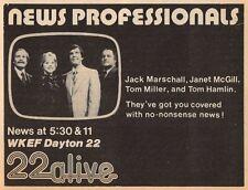 1980 WKEF TV NEWS AD~JACK MARSCHALL~JANET McGILL~TOM MILLER~TOM HAMLIN~DAYTON,OH
