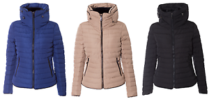 Womens-Ladies-Padded-Quilted-Puffer-Fur-Collar-Zip-Jacket-Coat-Size-8-20-New