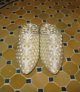 House slippers -Gold Slippers -Home
