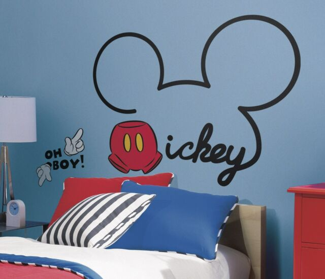 ALL ABOUT MICKEY MOUSE GiaNT WALL DECALS NeW Disney Room Stickers Bedroom Decor