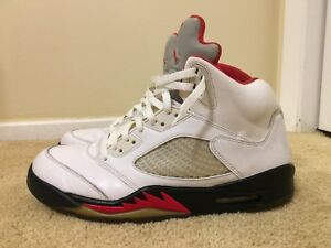 uk availability cea08 d400f Image is loading NIKE-AIR-JORDAN-5-V-RETRO-FIRE-RED-