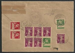Switzerland covers 1927 Backside franked R-cover to Wilkes-Barre
