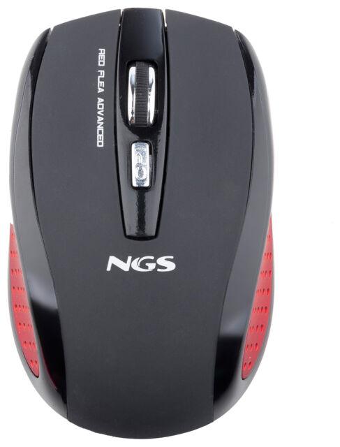 NGS Red Flea Advanced Souris Optique 2.4Gz Sans Fil Gaming Jeux Vidéo 5 Bouttons
