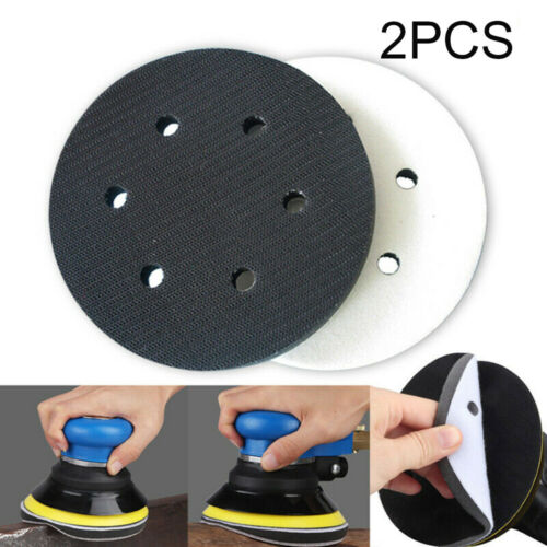 "6/"" Inch Interface Cushion Pad 150mm 6Hole Hook /& Loop Foam Sanding Disc"