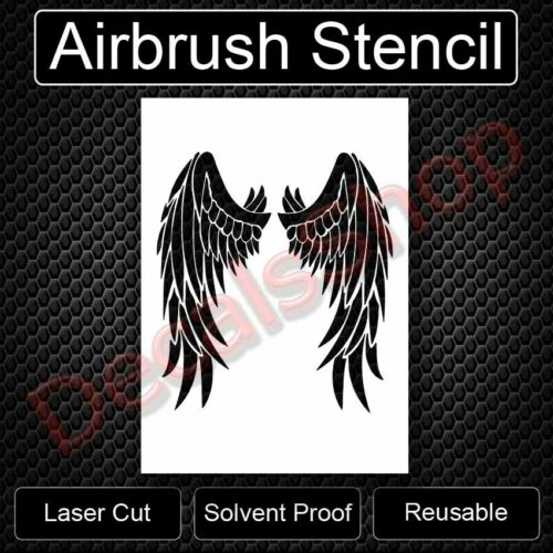 Devil Angel Bird Wings Reusable Airbrush Stencil Template 11x8.5  Free Shipping