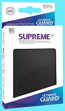 80 ULTIMATE GUARD SUPREME UX BLACK STANDARD Size Card SLEEVES Deck Protector MTG