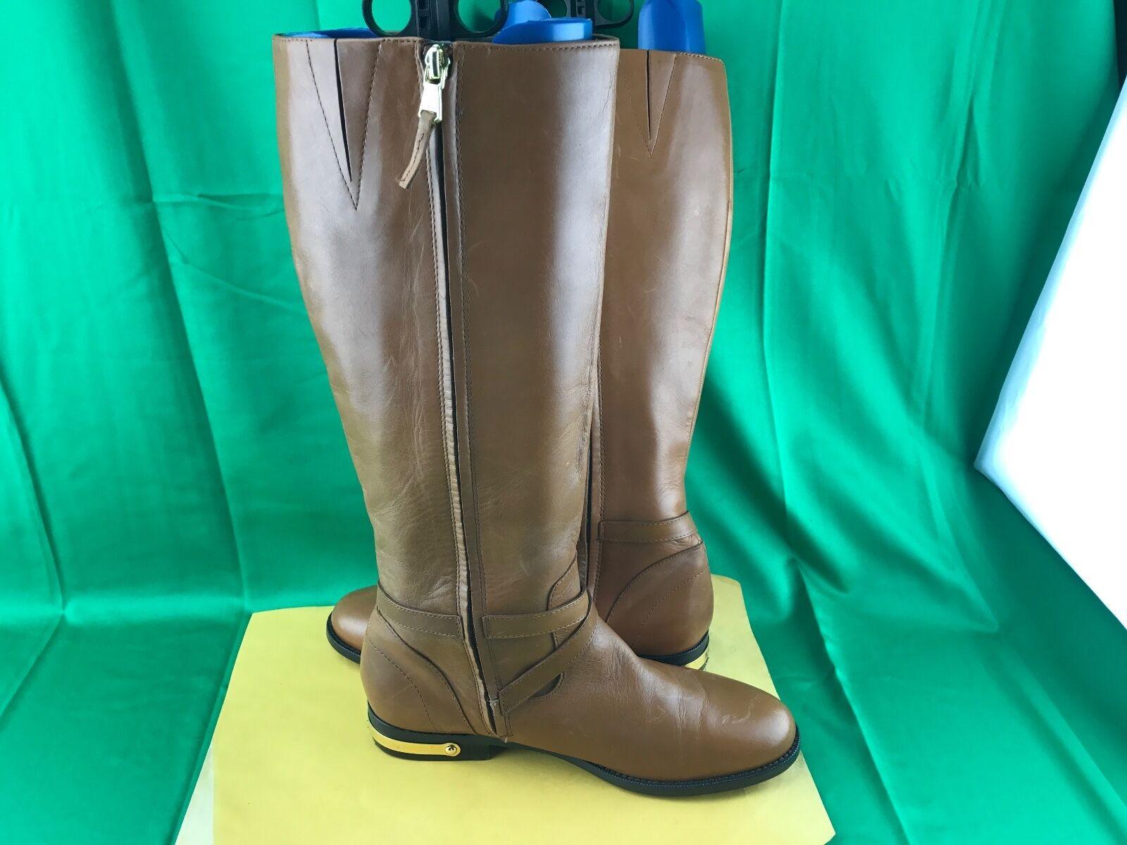 Women shoes LAUREN Ralph Lauren Lauren Lauren JAKAYLA Riding Boots Leather Polo Tan Size 8.5B 8031f9