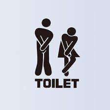 Hot 2pcs Toilet signs Wall Paper & Art viny removable Sticker Home Decor