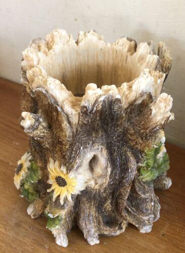 Molde de látex para hacer este pequeño árbol cara sostenedor de vela