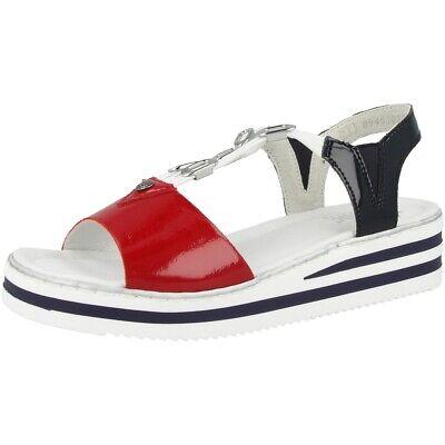 Rieker 61953 80 Schuhe Damen Keil Sandaletten Sandalen