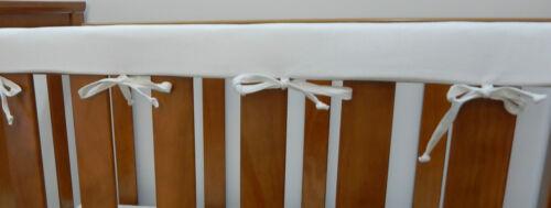 Cot Rail Cover White Crib Teething Pad  x 1