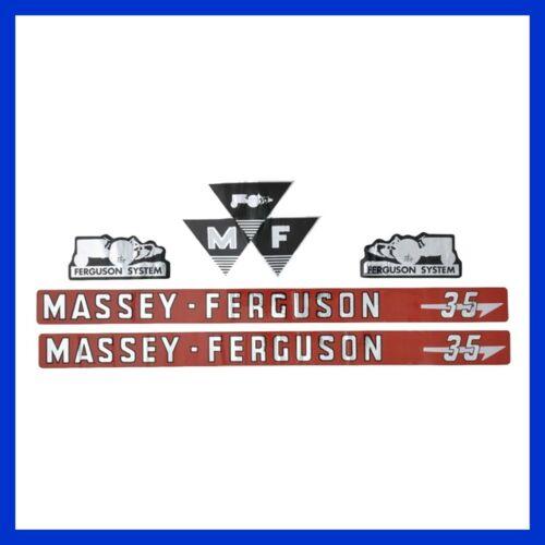 Vergl Massey Ferguson 35 Aufkleber Nr 3406970M91 Haubenaufkleber