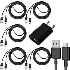 5x-Micro-USB-Kabel-Ladekabel-1x-Ladegeraet-Netzteil-fuer-Original-Samsung-Galaxy