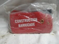Tag Construction Barricade Red With Zip Ties Pkg Of 25