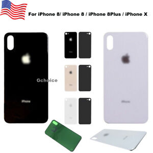 premium selection 2bb86 d334c Details about For iPhone 8/8 Plus X Battery Cover Glass Housing Rear Back  Door Replacement