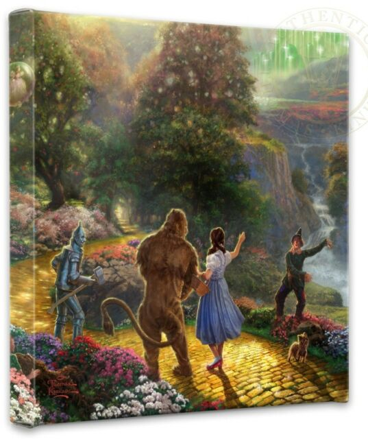 Kinkade Gallery Wrap Dorothy Discovers the Emerald City 14x14 Wrapped Canvas