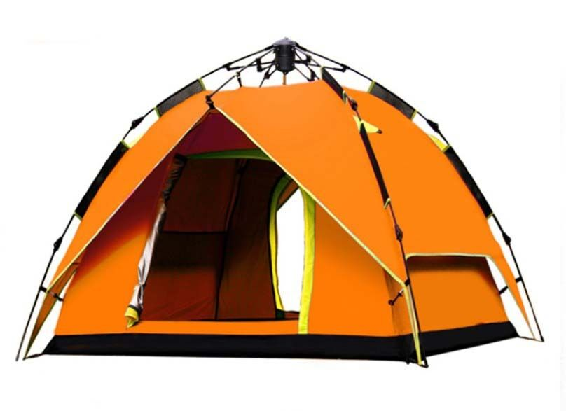 orange 2 Persons POP UP 1'S Double Lining Outdoor Waterproof Camping Hiking Tent