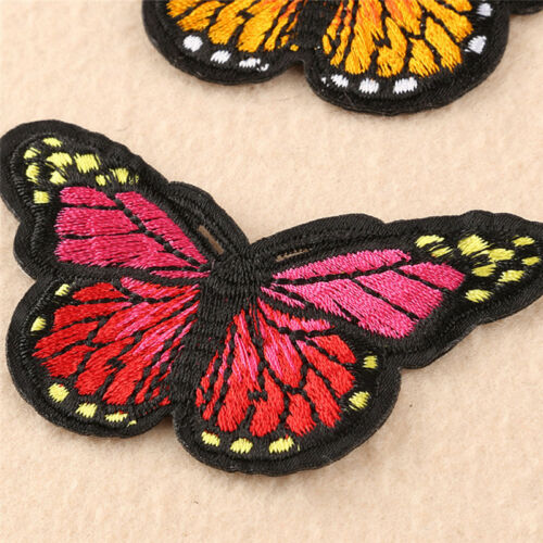 5Pcs Embroidery Butterfly Embroidered Sew On Patch Badge Fabric Applique Diy JD