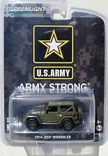 GREENLIGHT 2014 JEEP WRANGLER SOFT TOP U.S. ARMY STRONG