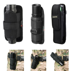 LED-Flashlight-Torch-Lamp-Nylon-Pouch-Holster-Belt-Carry-Case-Holder-3Size-Black