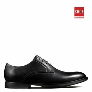 Clarks RONNIE WALK Black Mens Lace-up Dress/Formal Leather Shoes