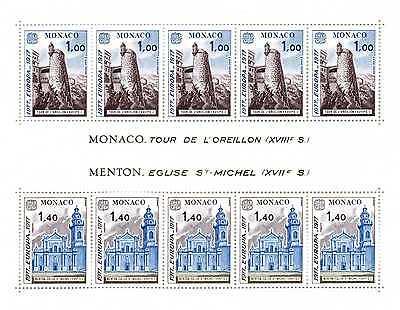 Gut Ausgebildete Monaco 1977 Landschaften Europa Cept Block 11 ** Postfrisch Br234 Monaco Europa
