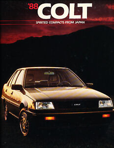 1988-Dodge-Colt-Deluxe-Mitsubishi-Sales-Brochure-Book