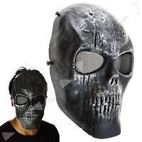 Army Skull Skeleton Bb Gun Airsoft Paintball Protect Full Face Game Mask Black