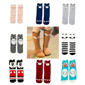 de2f51673 Image is loading Cute-Cartoon-Fox-Panda-Cotton-Knee-High-Socks-