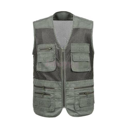Fishing Hiking Traveller Sports Casual Quick-dry Mesh Vest Jacket Waistcoat