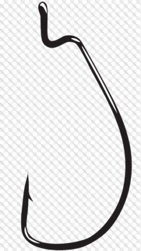 100 HOOKS GAMAKATSU #584 OFFSET SHANK WORM EWG SIZE 4//0 58414-100 NEW
